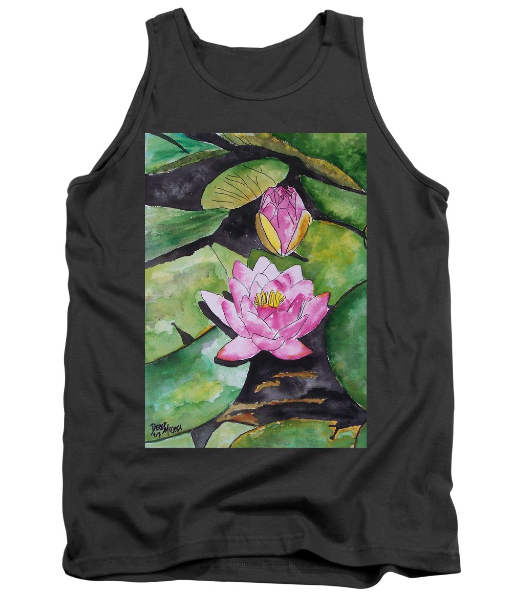 Water Lily Tank Top featuring the painting Water Lily by Derek Mccrea