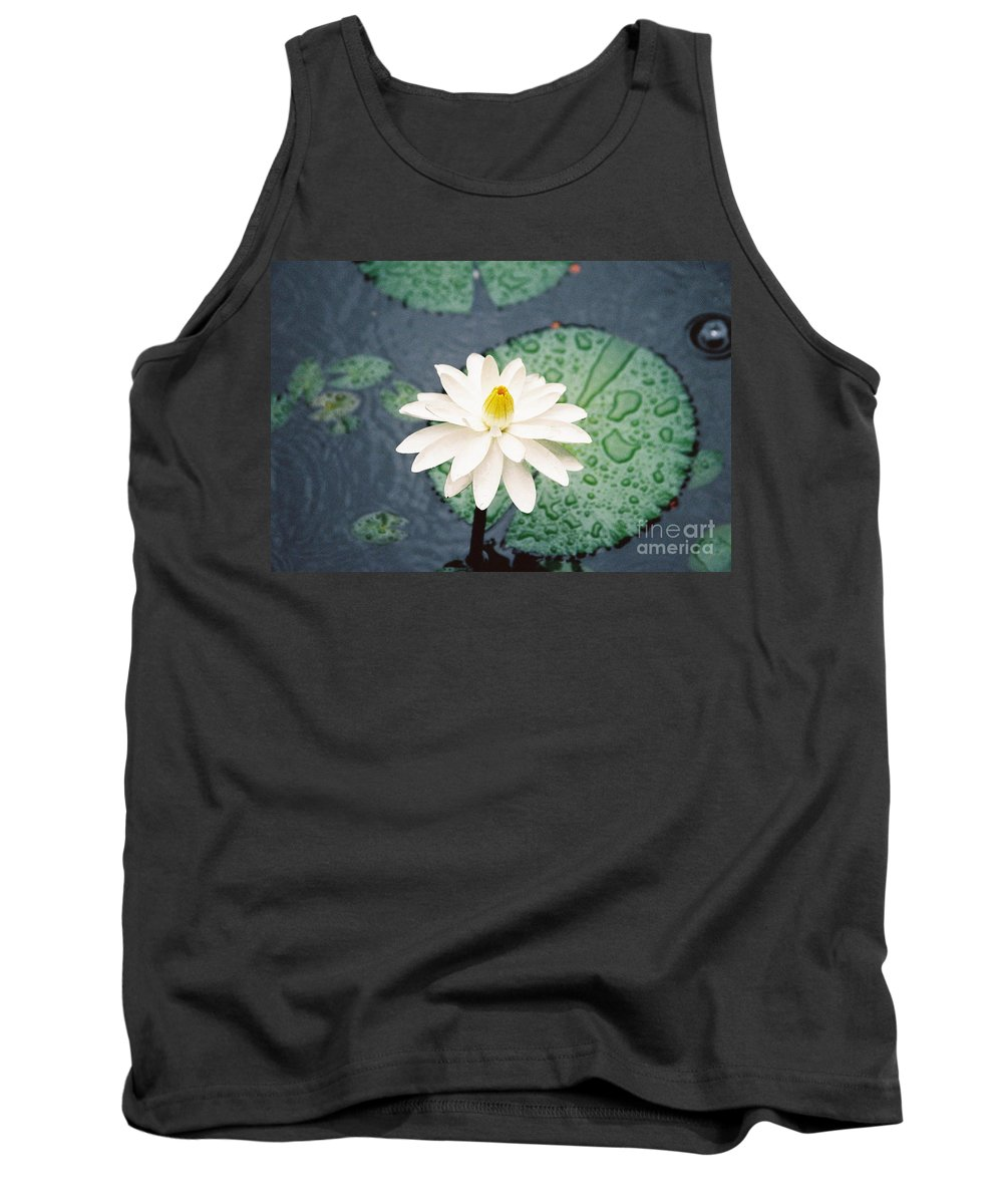 Flowers Tank Top featuring the photograph Water Lily by Kathy McClure