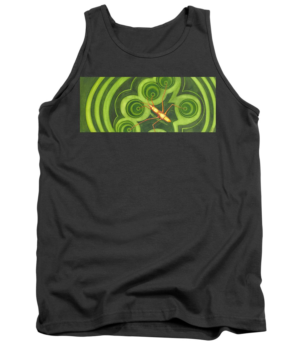 Strider Tank Top featuring the painting Water Strider by Catherine G McElroy