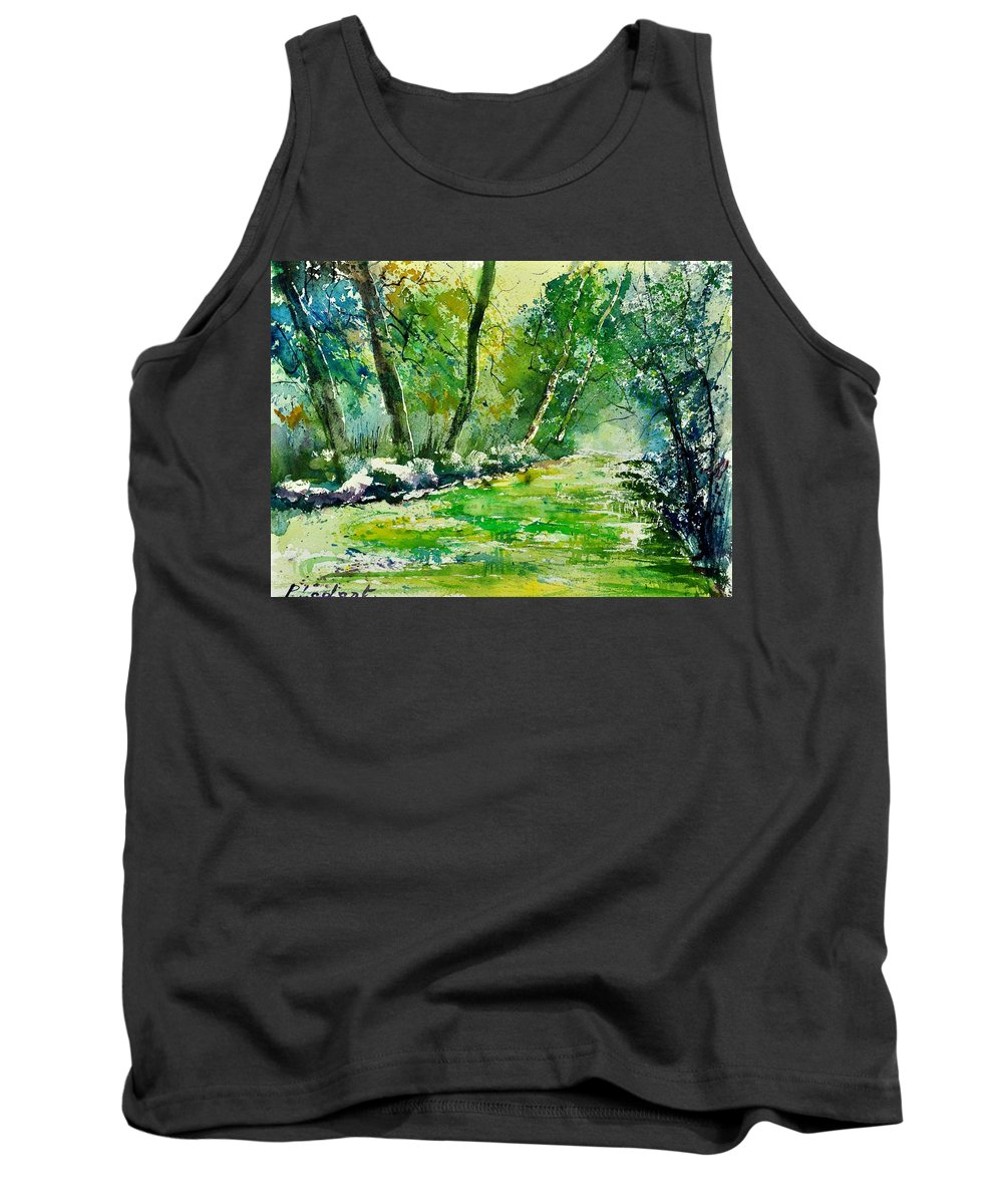 Landscape Tank Top featuring the painting Watercolor 019031 by Pol Ledent