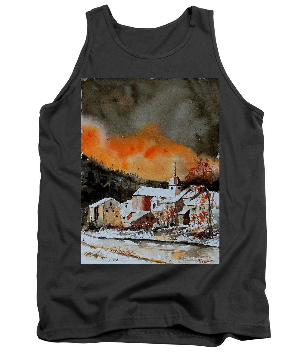 Winter Tank Top featuring the painting Watercolor 050707 by Pol Ledent