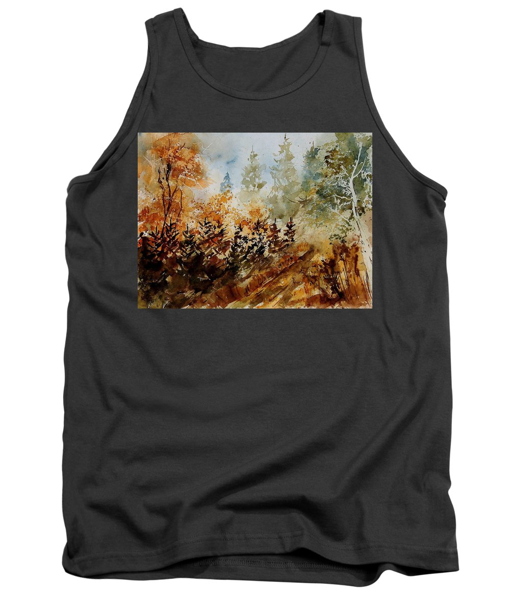 Tree Tank Top featuring the painting Watercolor 250607 by Pol Ledent