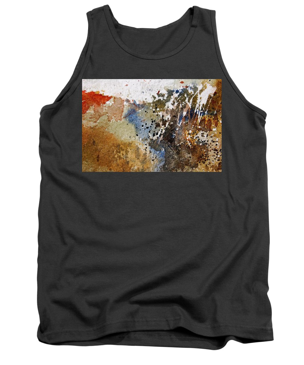 Abstract Tank Top featuring the painting Watercolor 9050223 by Pol Ledent