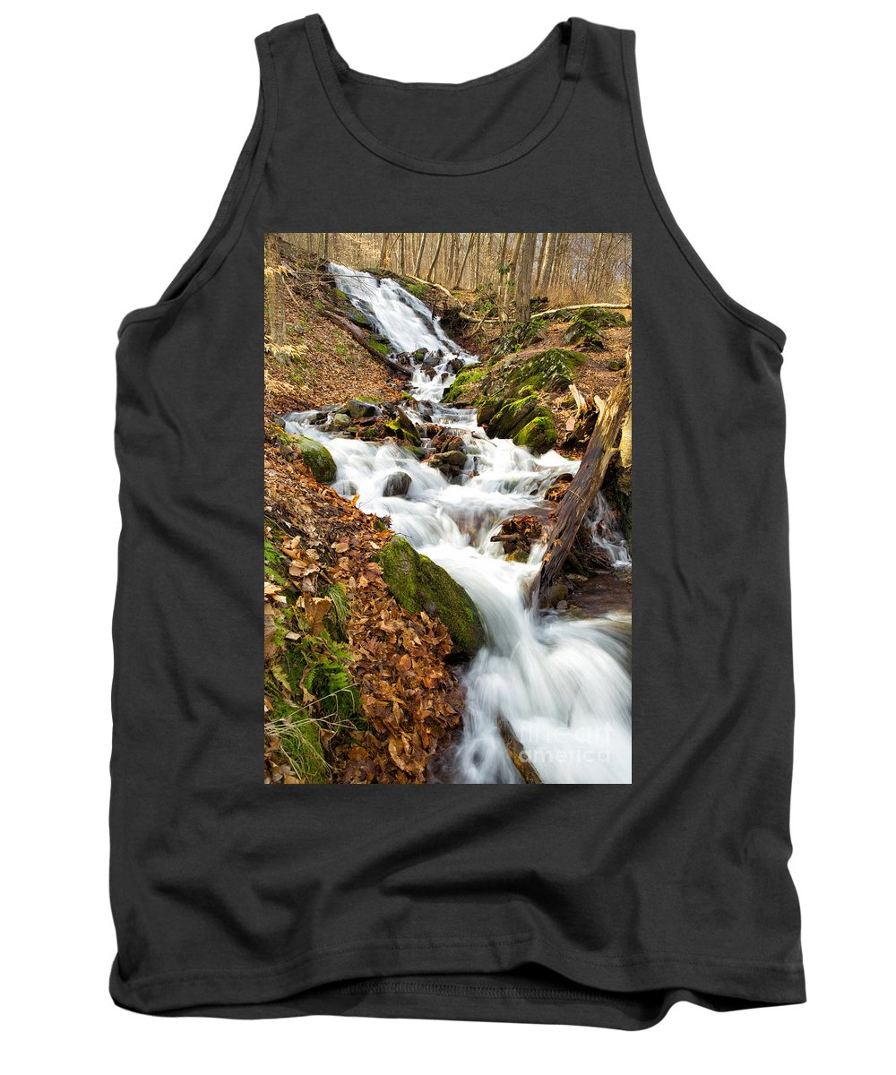 Water Tank Top featuring the photograph Waterfall by Paul Fell