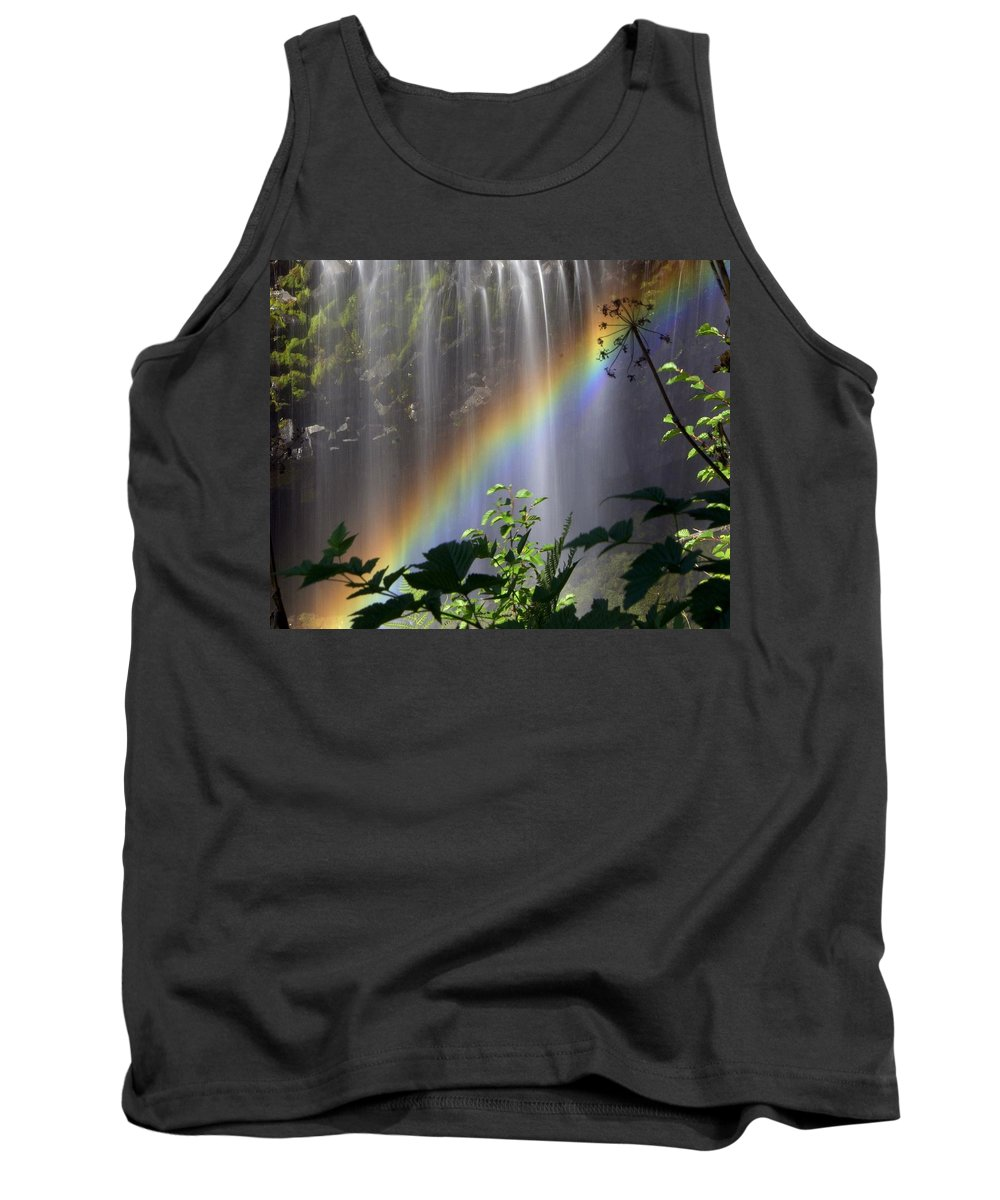Waterfall Tank Top featuring the photograph Waterfall Rainbow by Marty Koch