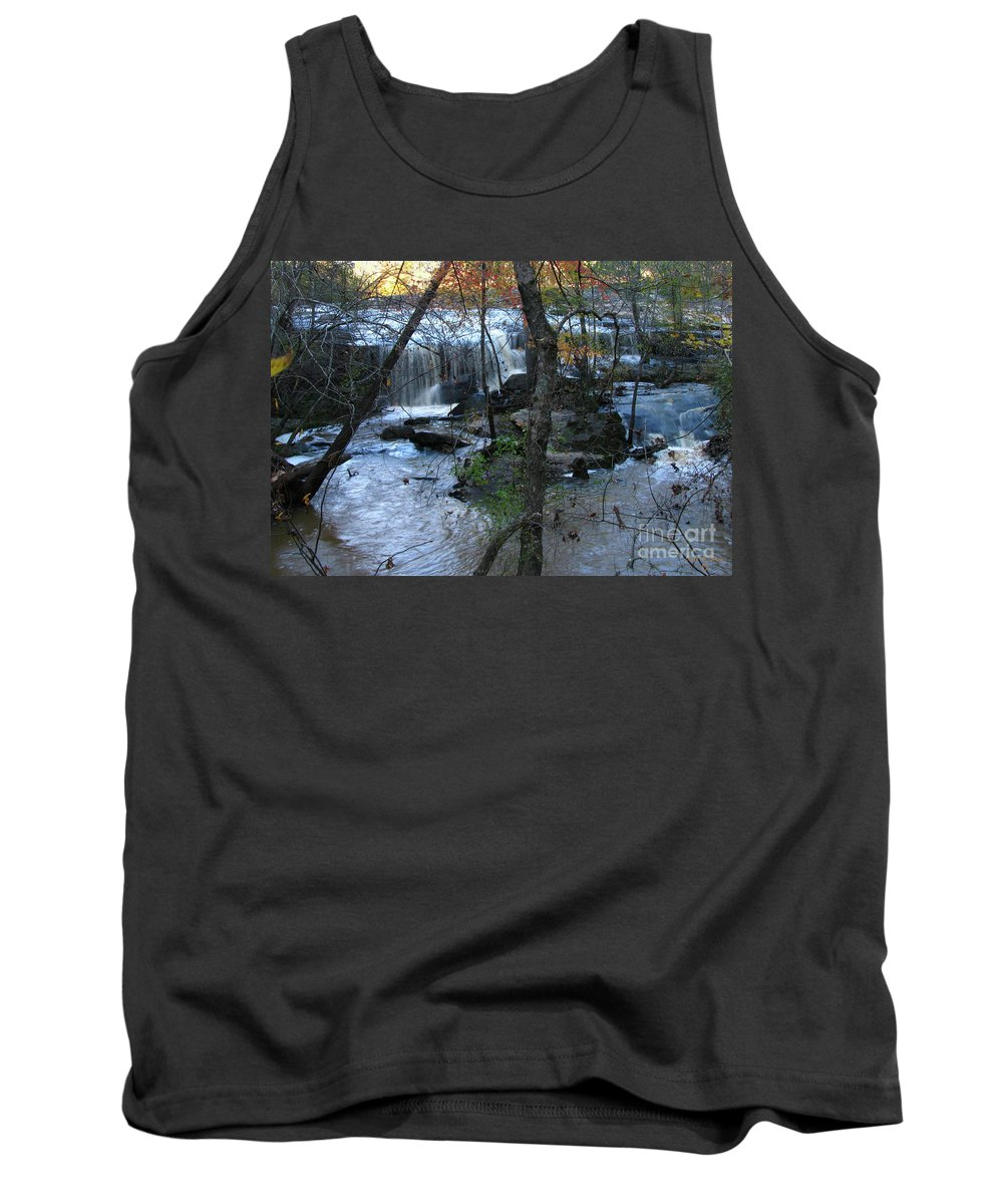 Water Tank Top featuring the photograph Waterfalls In Morning by Donna Brown