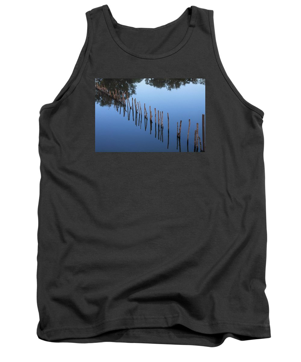 Sticks Tank Top featuring the photograph Waterline by John Cumbow