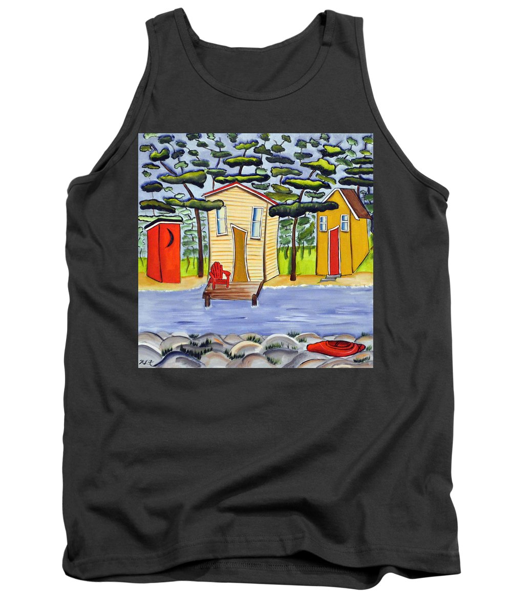 Abstract Tank Top featuring the painting Water's Edge by Heather Lovat-Fraser