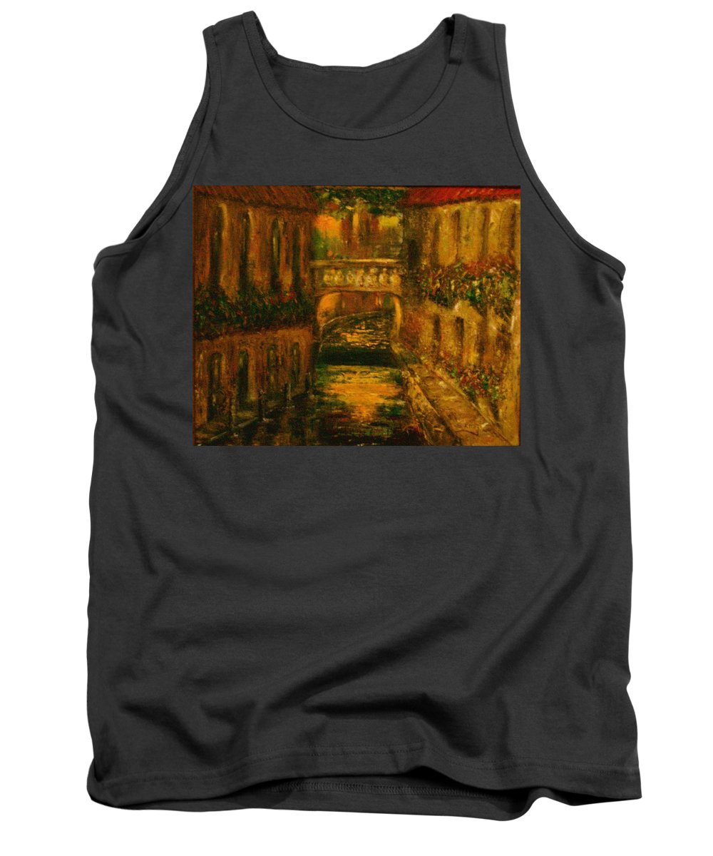 Landscape Tank Top featuring the painting Waters Of Europe by Stephen King