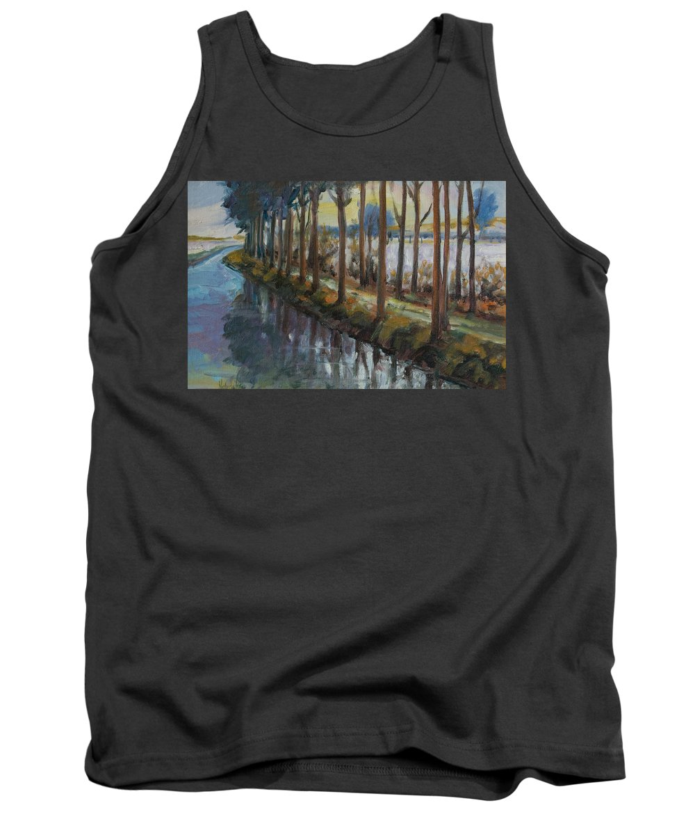 Trees Tank Top featuring the painting Waterway by Rick Nederlof