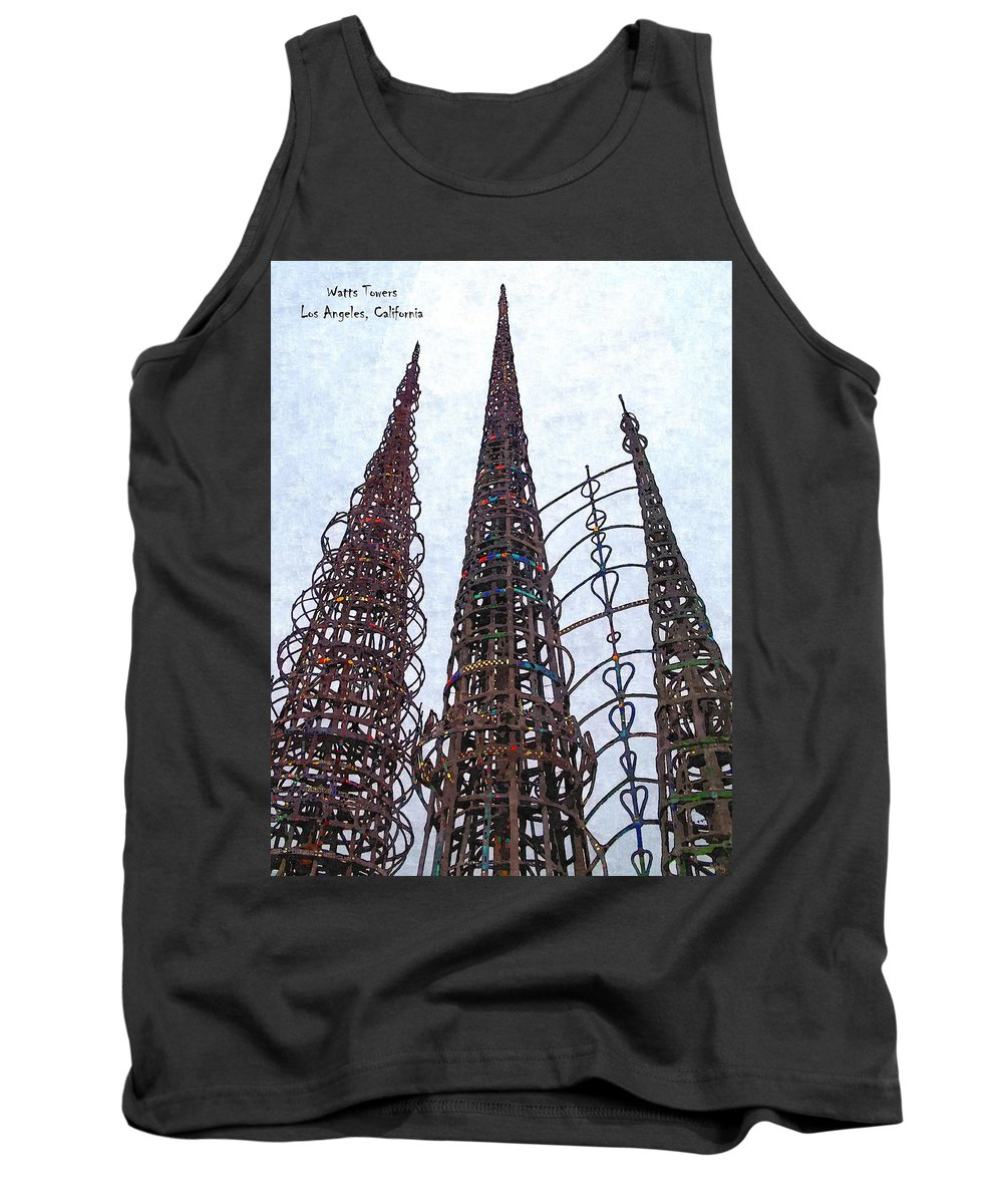 Glenn Mccarthy Tank Top featuring the photograph Watts Towers 2 - Los Angeles by Glenn McCarthy Art and Photography