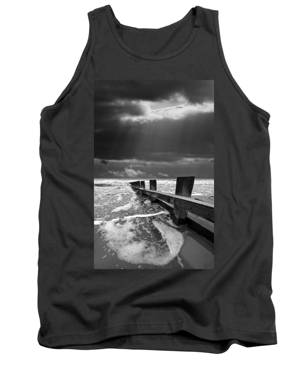Groyne Tank Top featuring the photograph Wave Defenses by Meirion Matthias