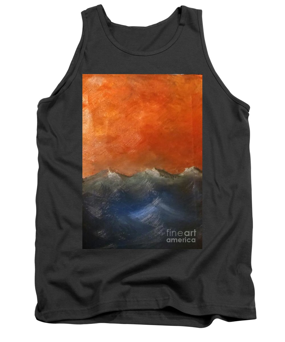 Waves Tank Top featuring the painting Waves by Casey Baggerly