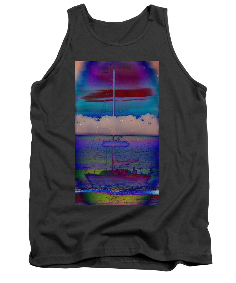Waves Of Emotion Tank Top featuring the painting Waves Of Emotion by Darin Baker