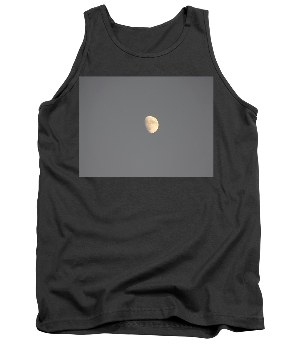 Waxing Tank Top featuring the photograph Waxing Moon by Valerie Ornstein