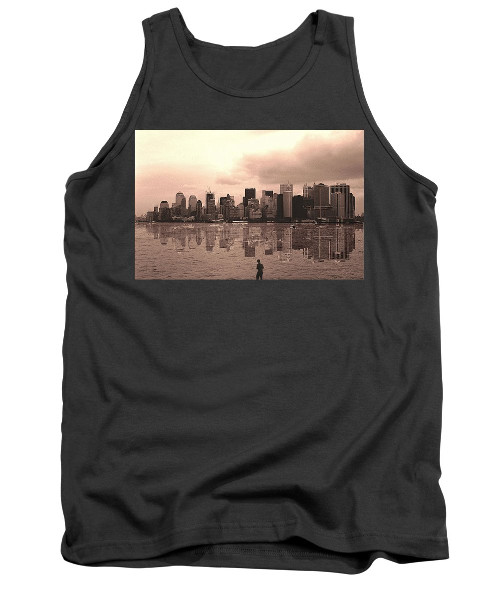 Photo Tank Top featuring the photograph We Are Watched by Enrique Crusellas