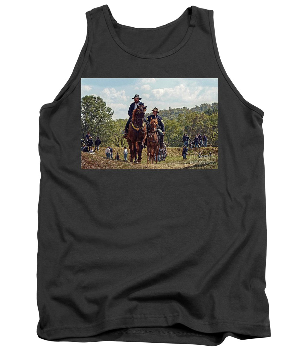 Union Soldiers Tank Top featuring the photograph Weary Union Soldiers by Frankie Cat
