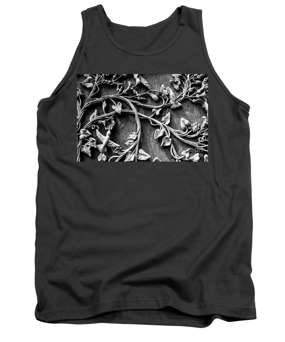 Wall Art Tank Top featuring the photograph Weathered Wall Art In Black And White by Deborah Brown
