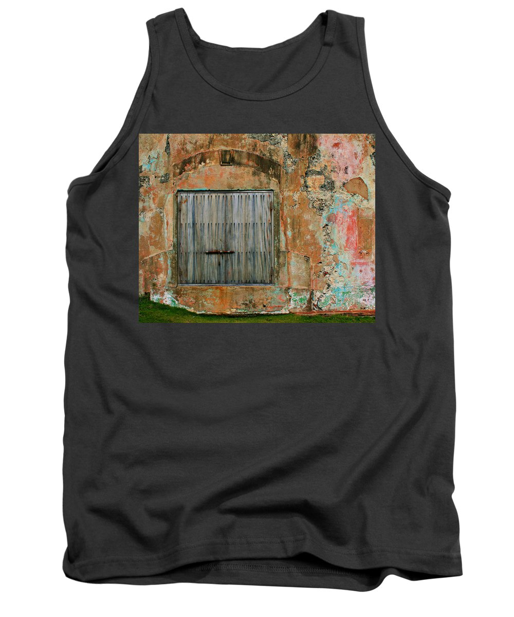 Fort Tank Top featuring the photograph Weathered Wall by Perry Webster