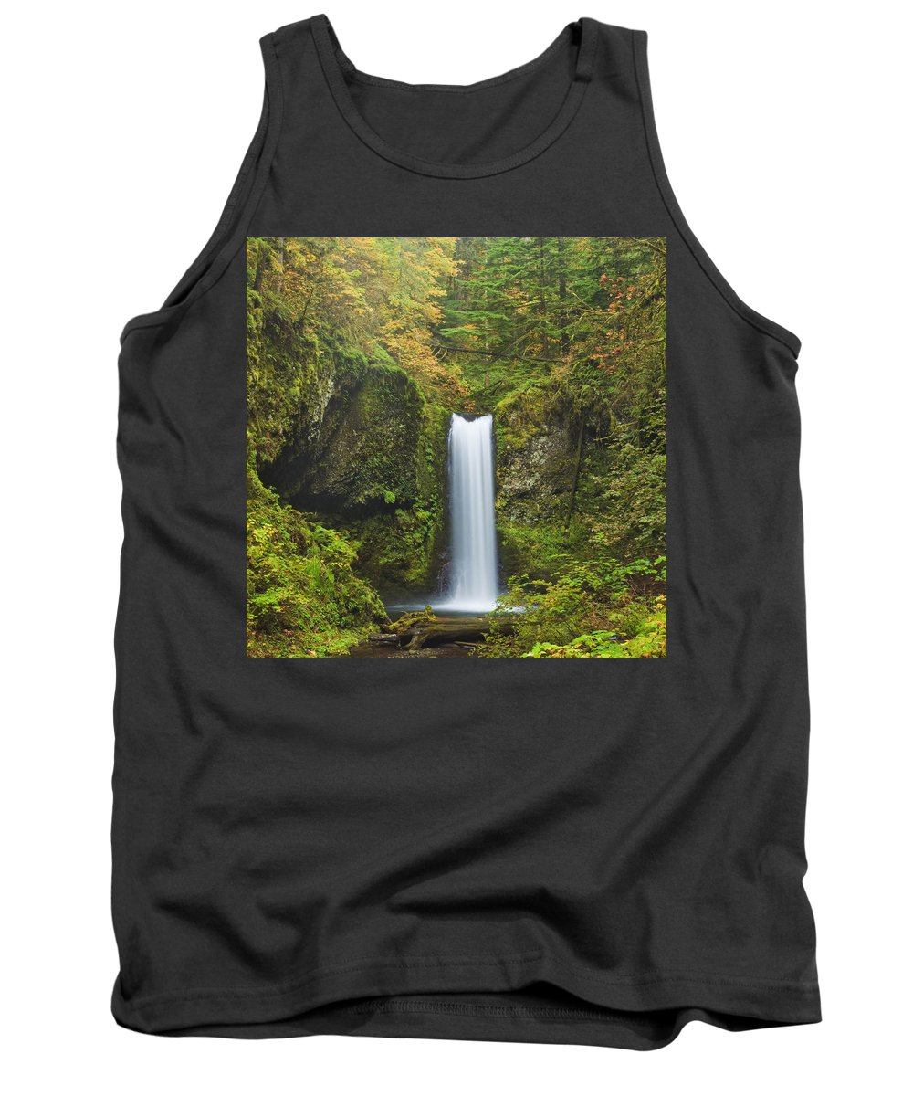 Columbia Gorge Tank Top featuring the photograph Weisendanger Falls by Ingrid Smith-Johnsen