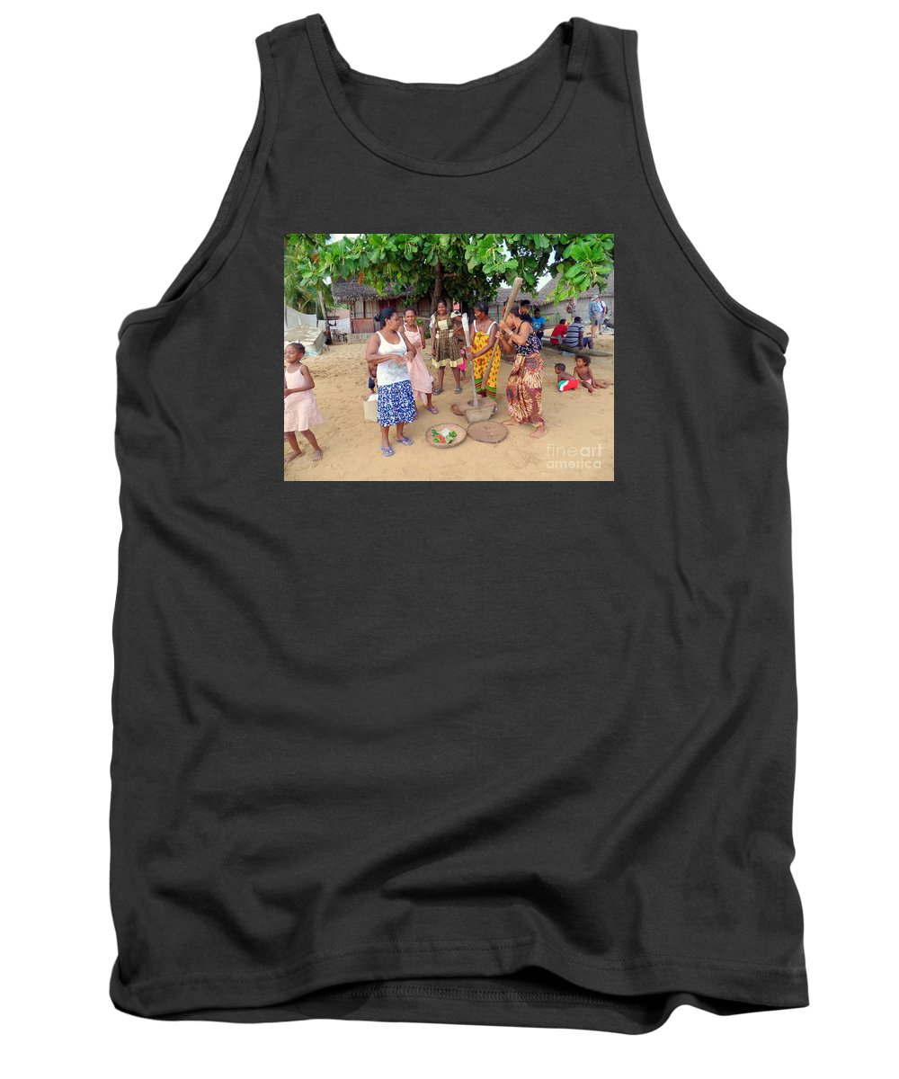 Nosy Be Tank Top featuring the photograph Welcome Committee by John Potts