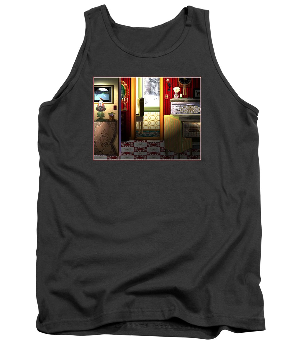 Surrealism Tank Top featuring the digital art Welcome Home by Listen LeeMarie