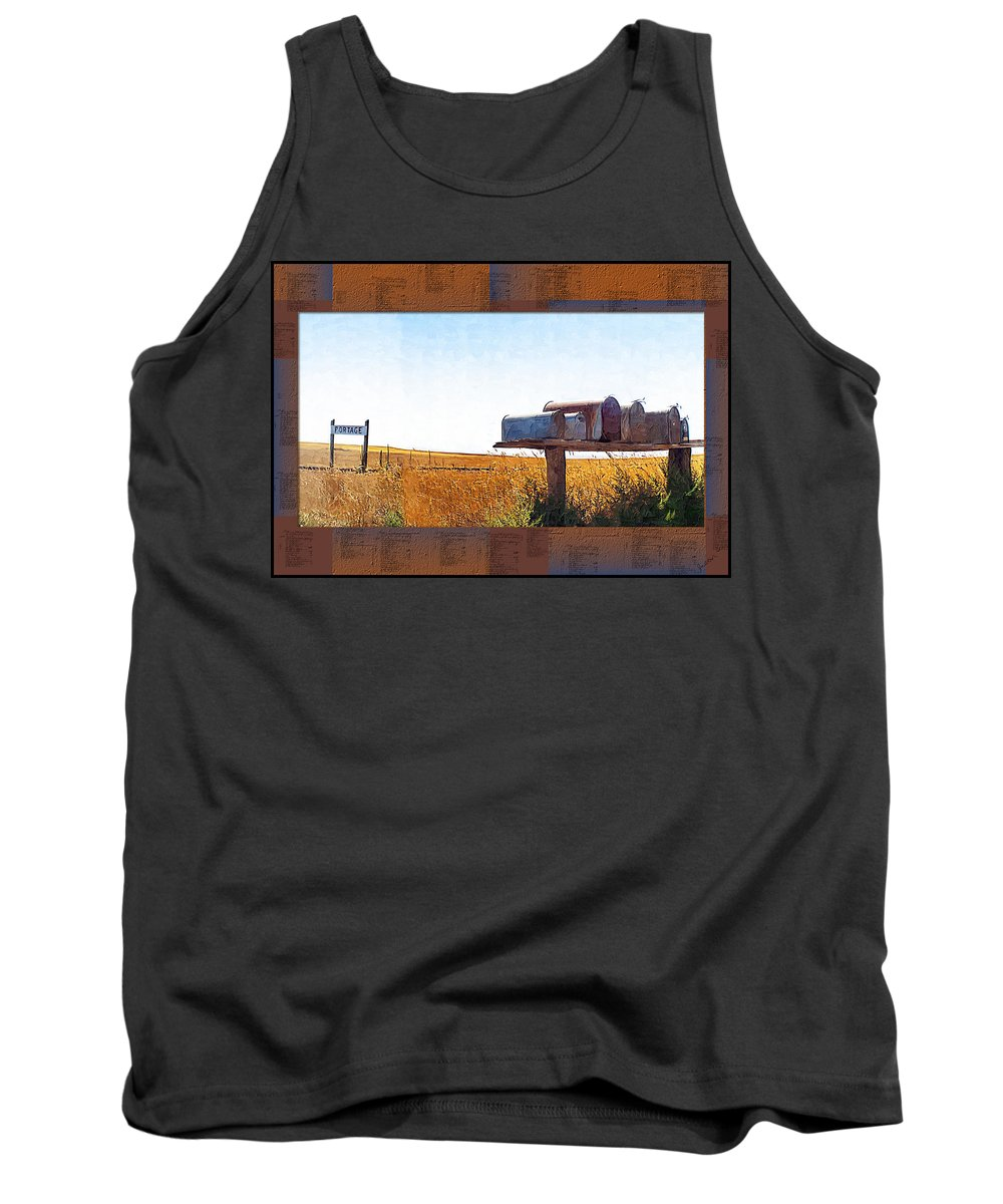 Railroad Tank Top featuring the photograph Welcome To Portage Population-6 by Susan Kinney