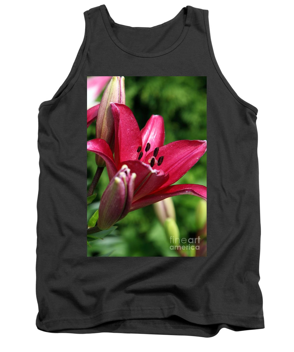 Lilly Tank Top featuring the photograph Welcoming by Amanda Barcon