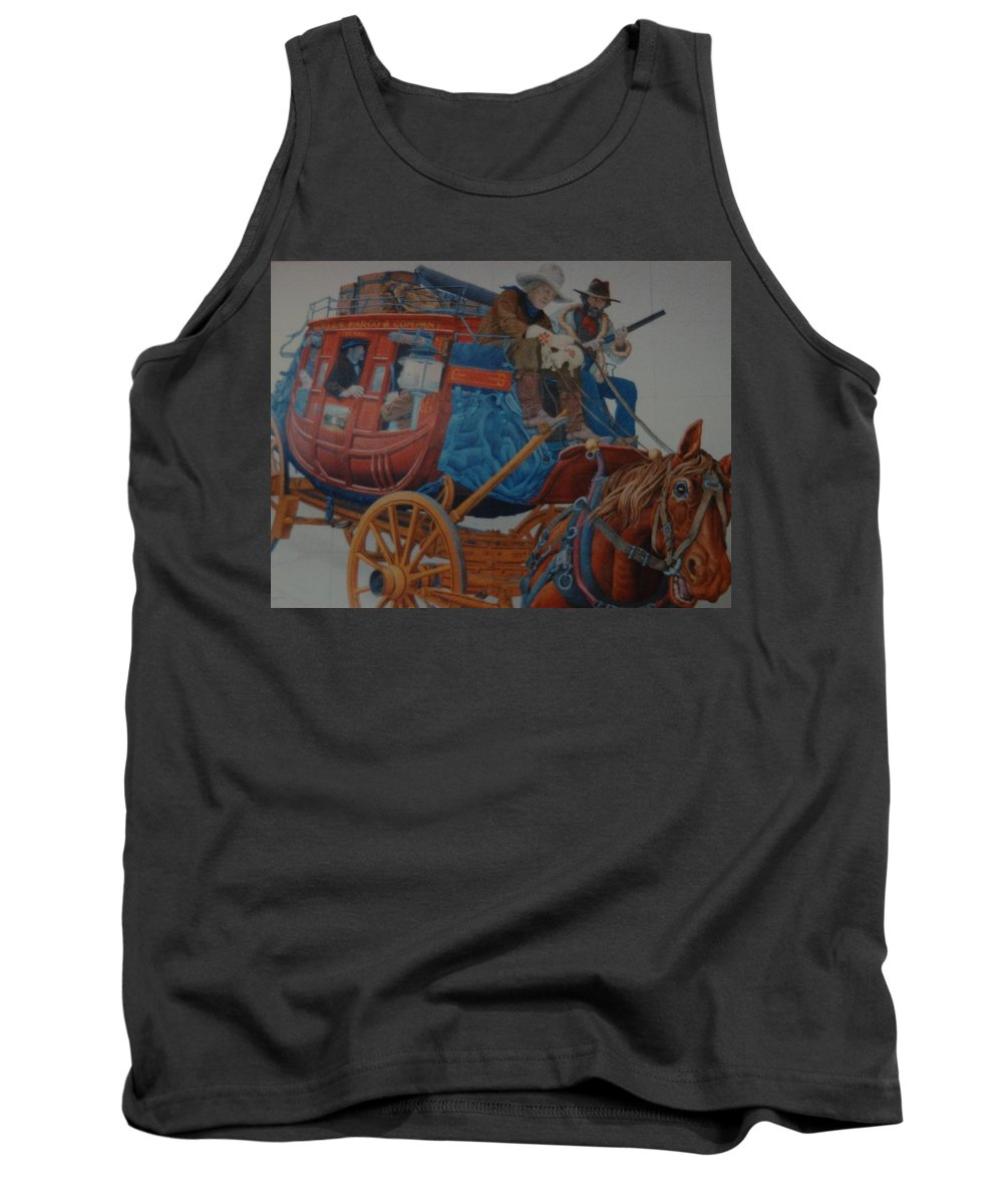 Mural Tank Top featuring the photograph Wells Fargo Stagecoach by Rob Hans