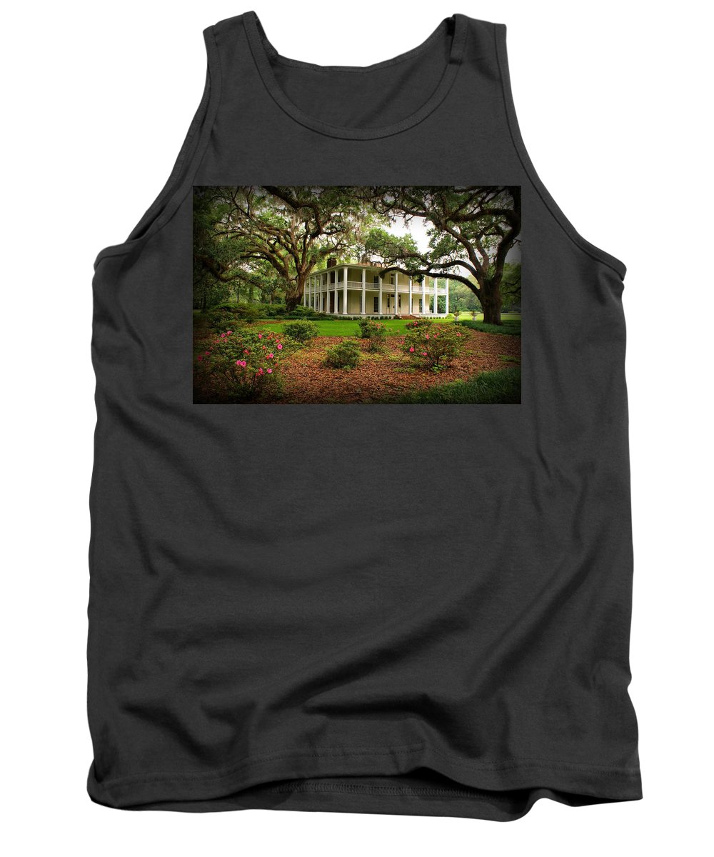 Eden State Park Tank Top featuring the photograph Wesley House by Sandy Keeton