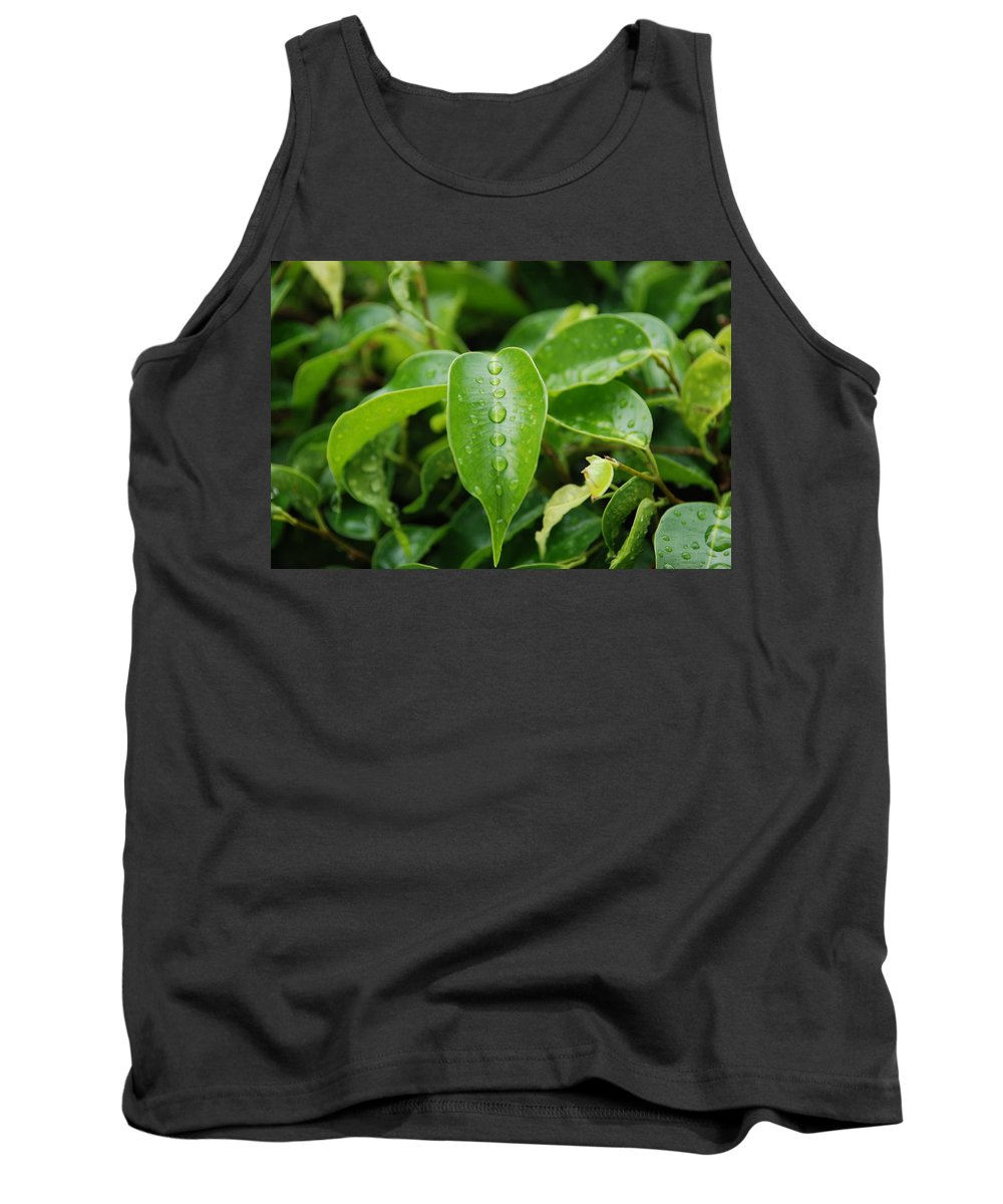 Macro Tank Top featuring the photograph Wet Bushes by Rob Hans
