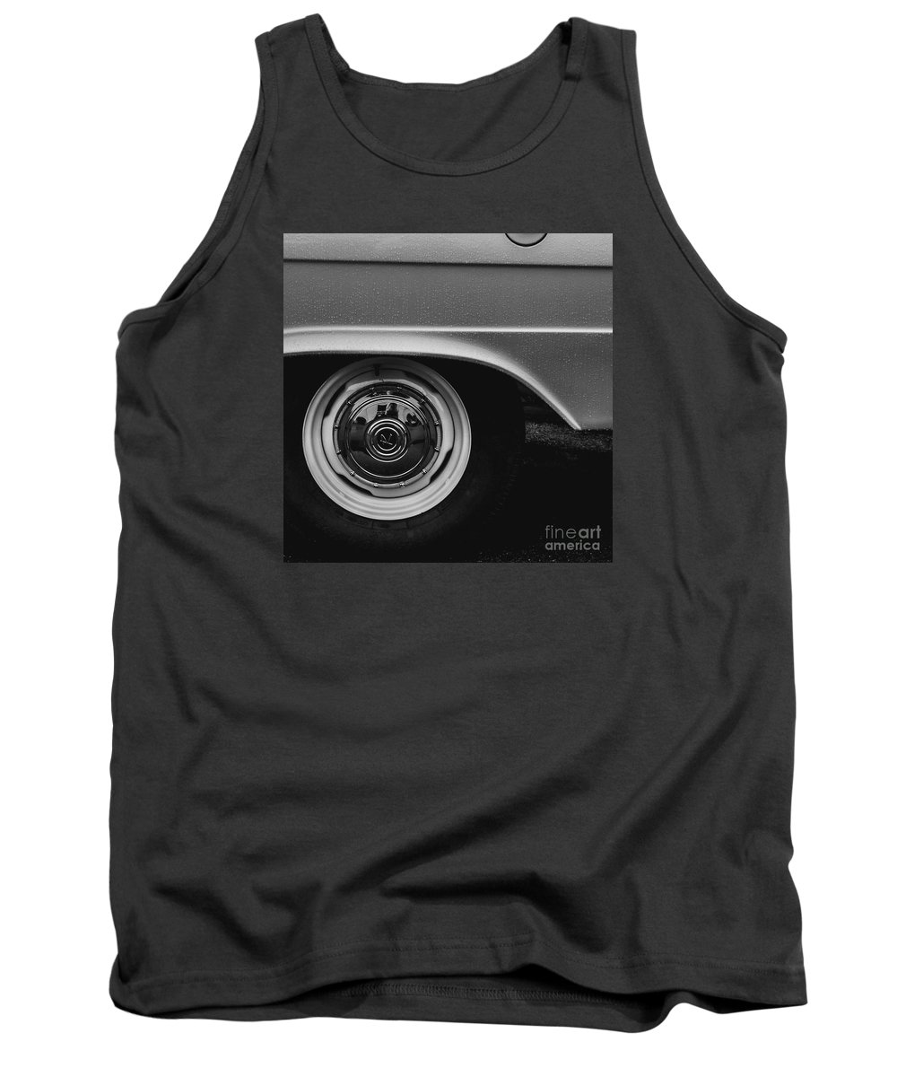 Tire Tank Top featuring the photograph Wet Car by Victory Designs