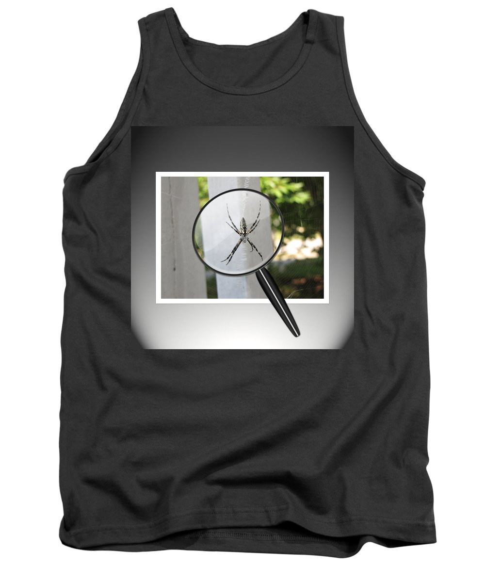 Spider Tank Top featuring the photograph What Big Eyes You Have by Gary Adkins