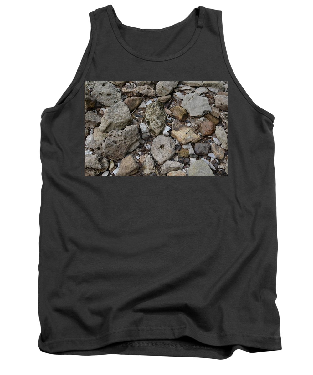 River Rock Tank Top featuring the photograph What The Tide Brings In by Tammy Mutka