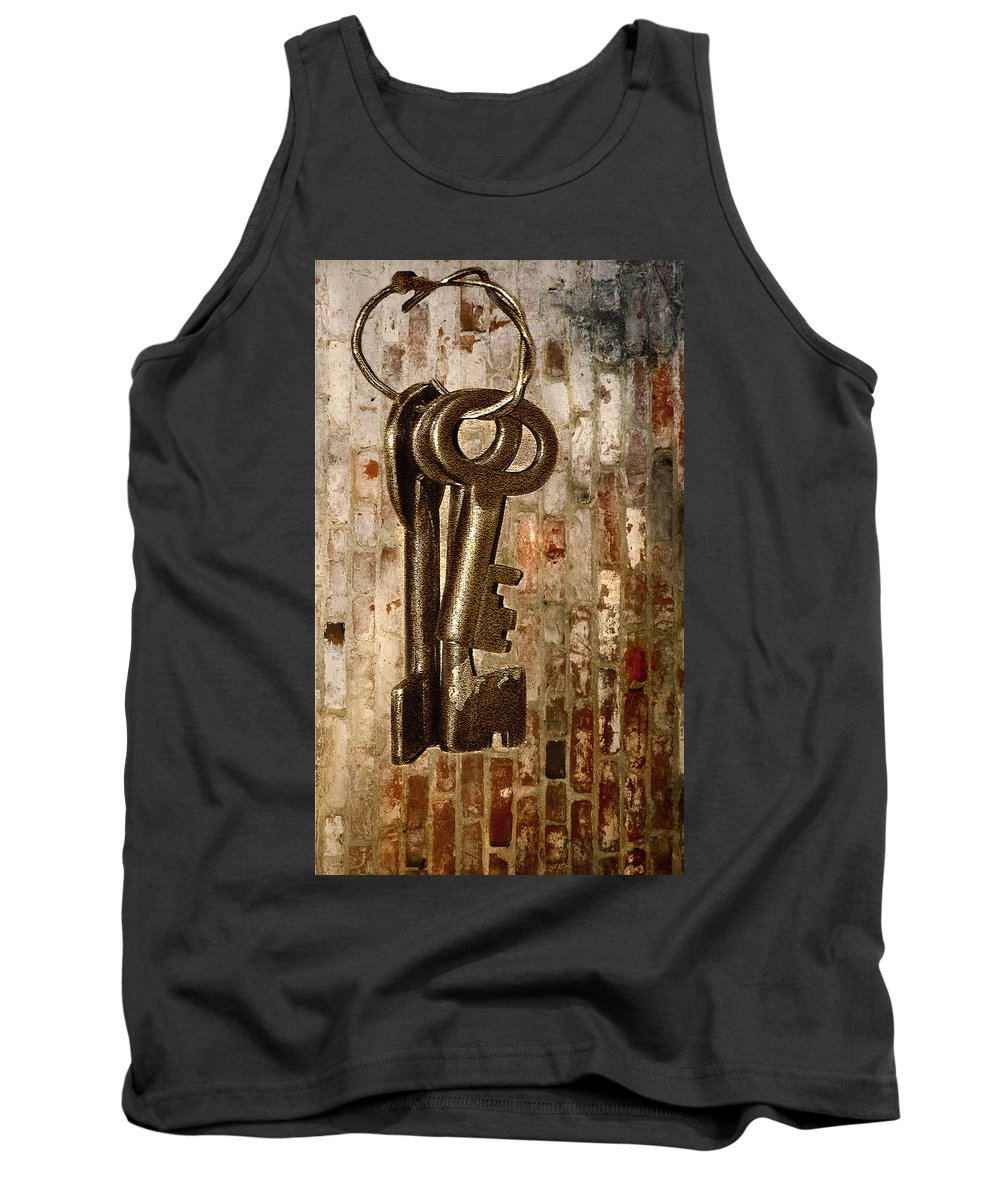 Antiques Tank Top featuring the photograph What They Unlock by Charuhas Images