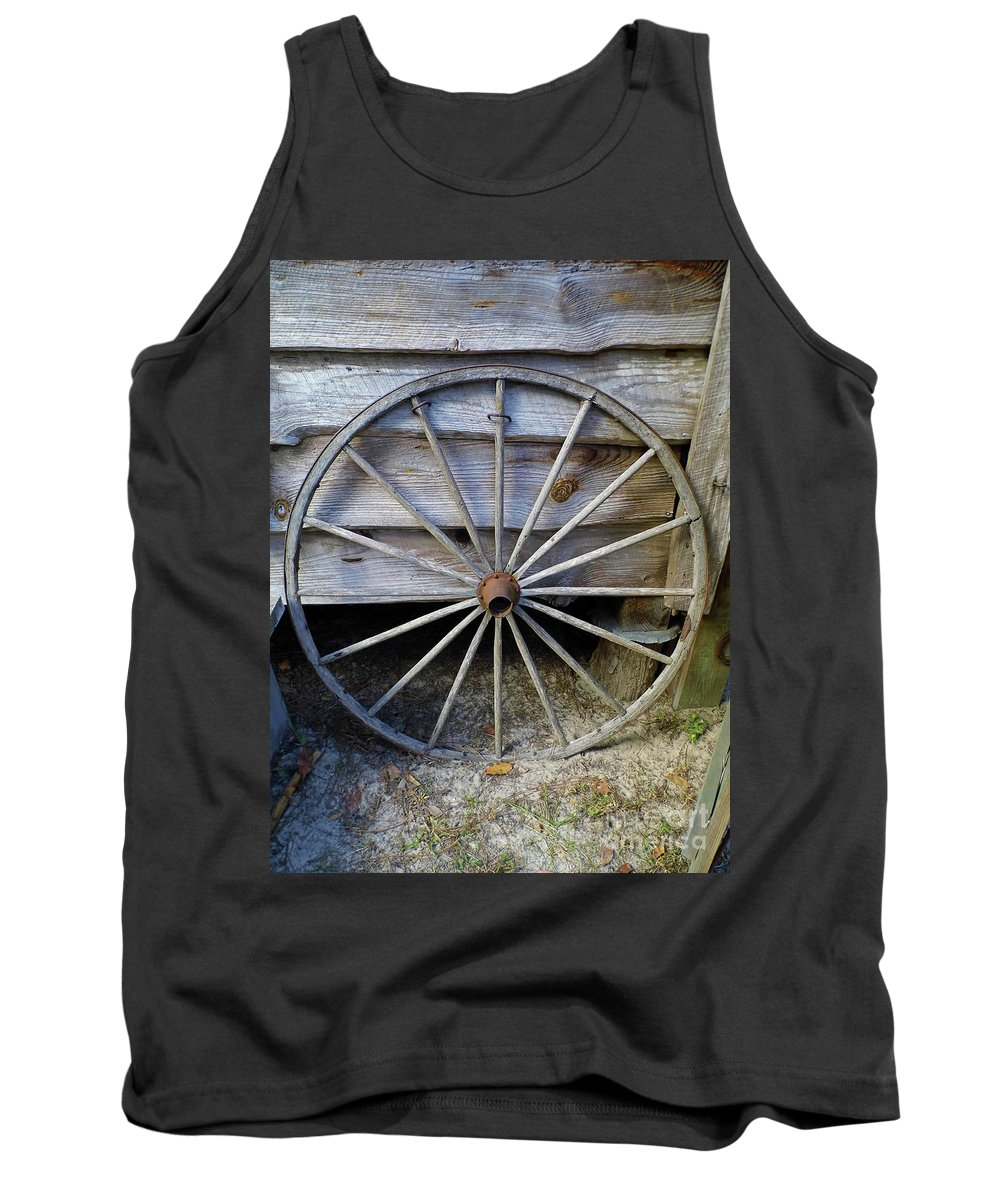 Wheel Tank Top featuring the photograph Wheel by D Hackett