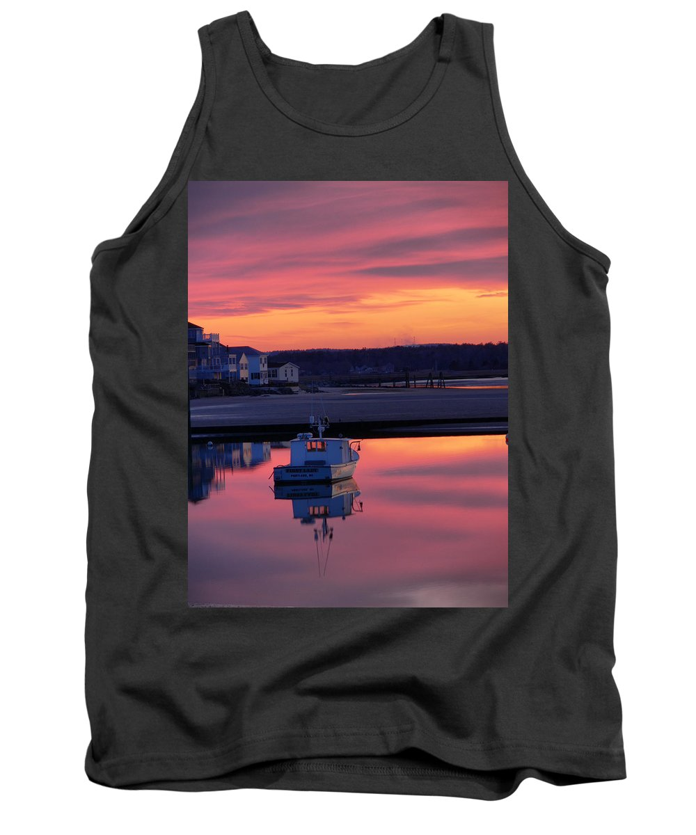 Spring Tank Top featuring the photograph When The Sun Goes Down by Nancie DeMellia
