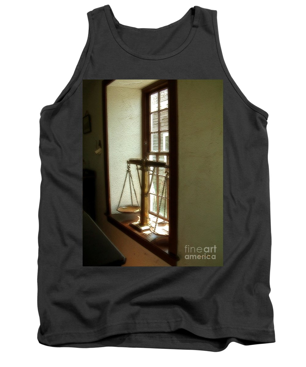 Window Tank Top featuring the painting Where Be His Quiddits Now? by RC deWinter