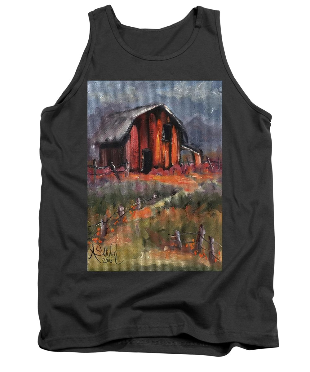 Barn Tank Top featuring the painting Where Flowers Bloom by Angela Sullivan