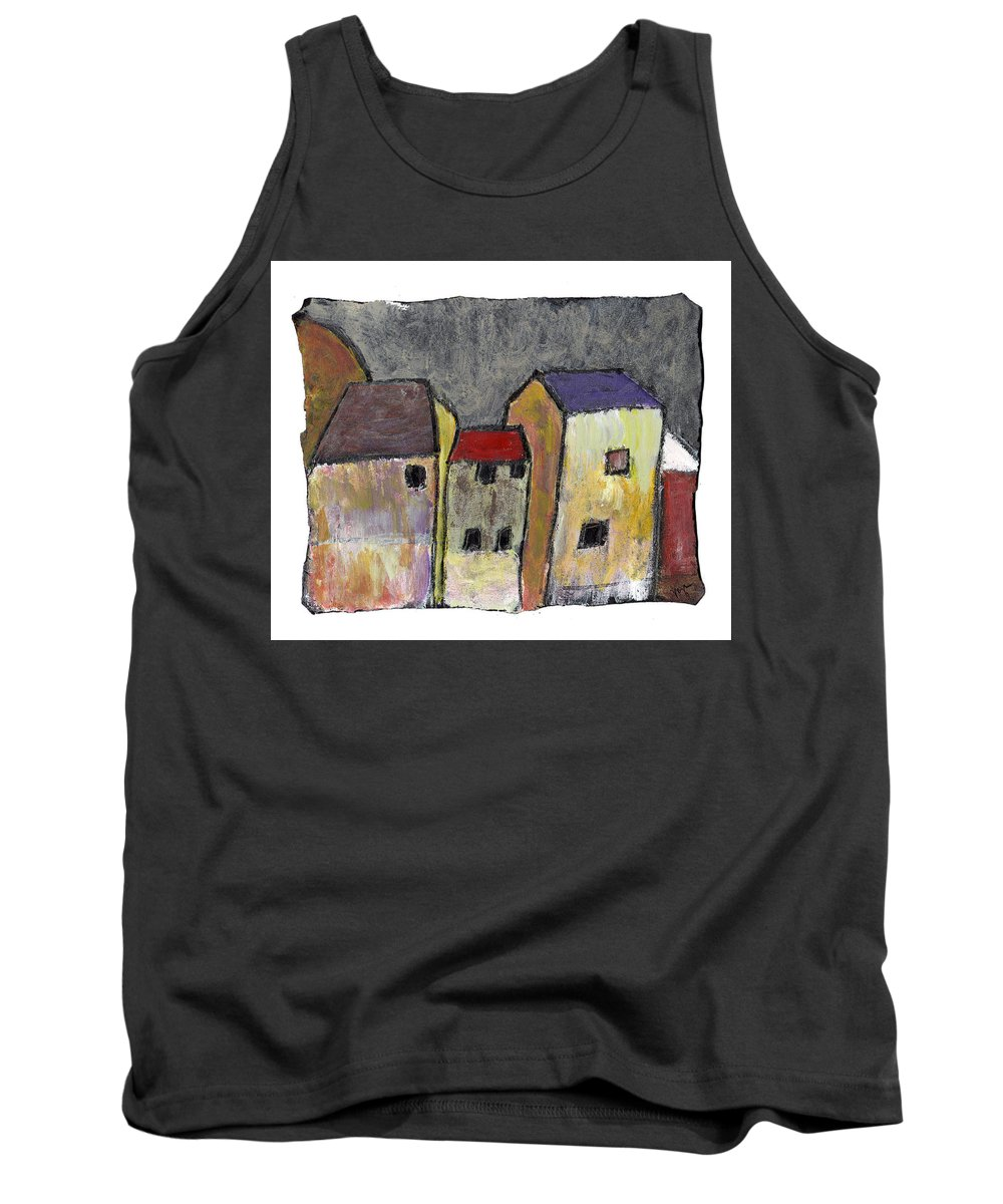 Buildings Tank Top featuring the painting Where Once There Was by Wayne Potrafka