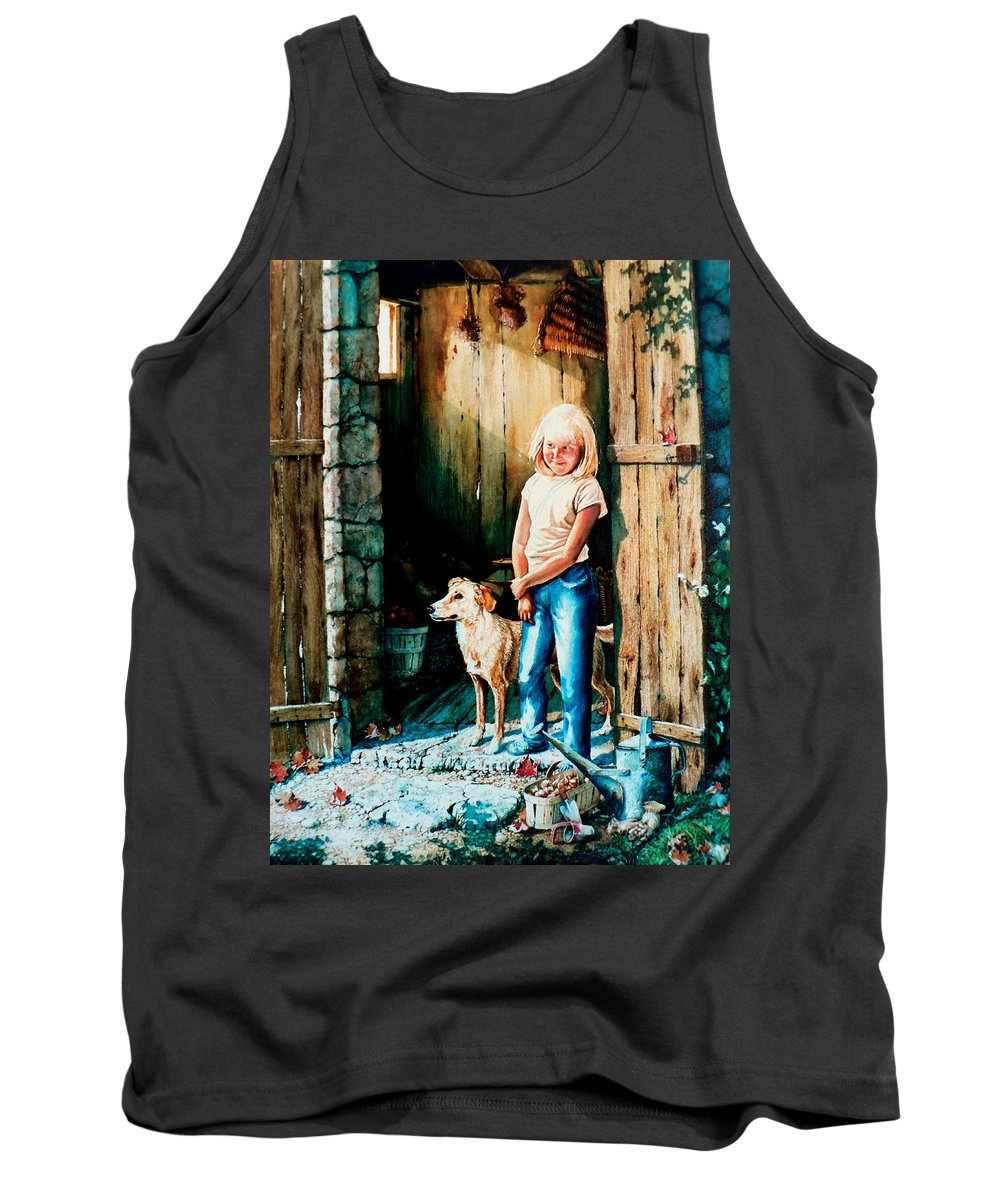 Tribute To Connie Francis Tank Top featuring the painting Where The Boys Are by Hanne Lore Koehler