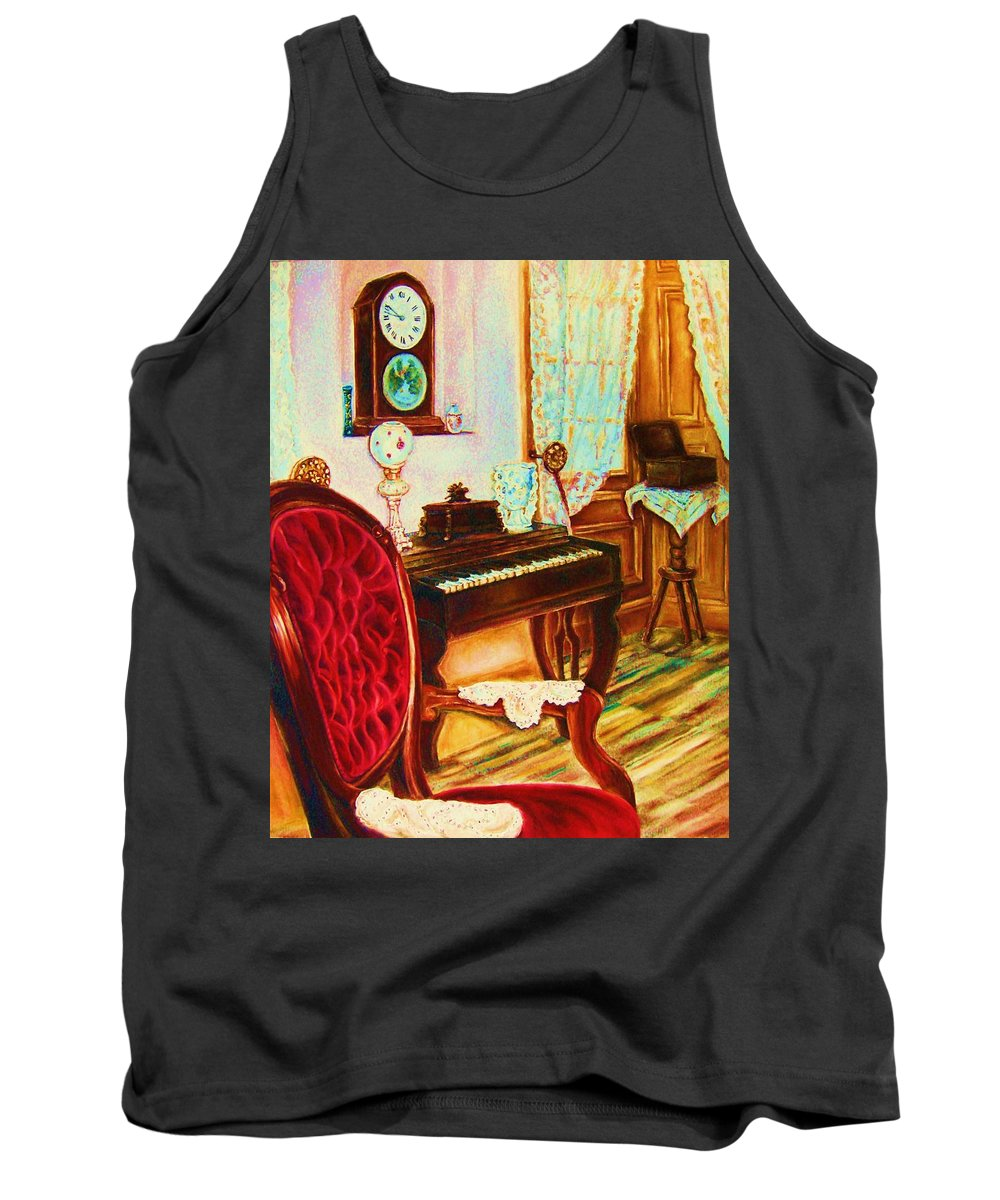 Prayer Room Tank Top featuring the painting Where Time Stands Still by Carole Spandau