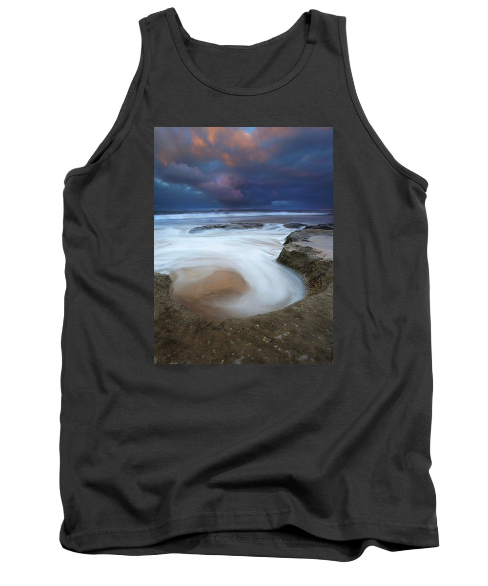 Knight's Beach Tank Top featuring the photograph Whirlpool Dawn by Mike Dawson