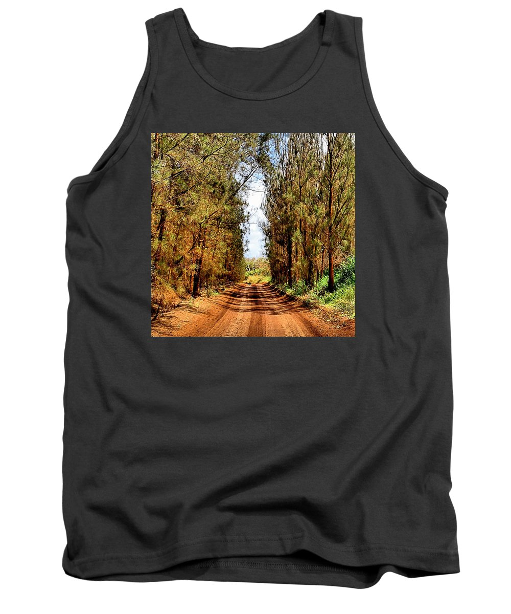 Square Tank Top featuring the photograph Whispering Pines by DJ Florek