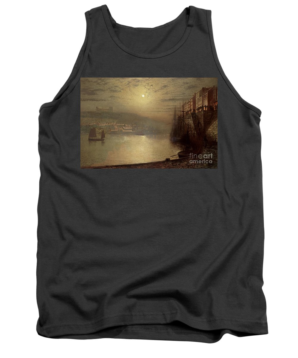 Whitby Tank Top featuring the painting Whitby by John Atkinson Grimshaw