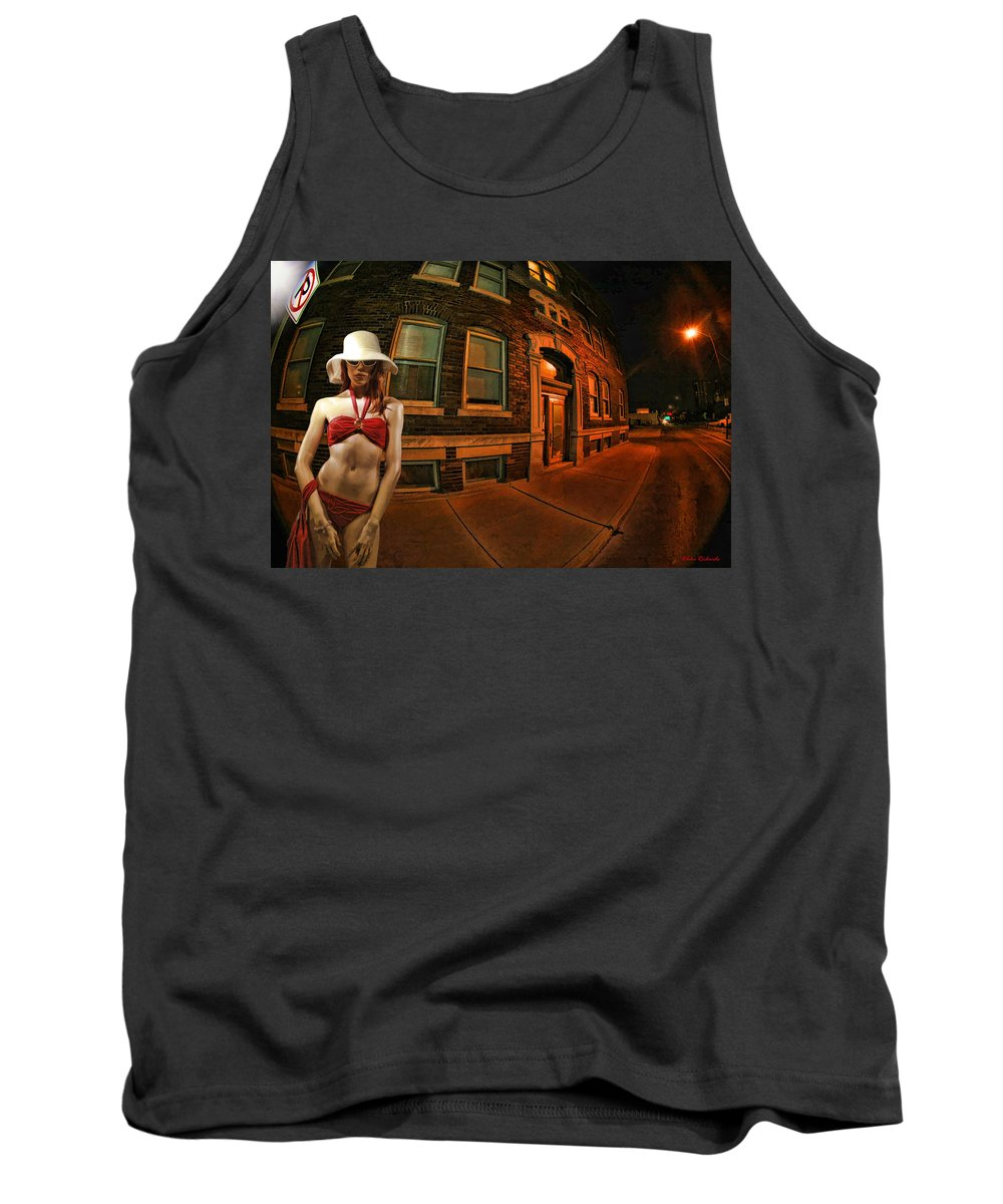 Tank Top featuring the photograph White Hat Street by Blake Richards