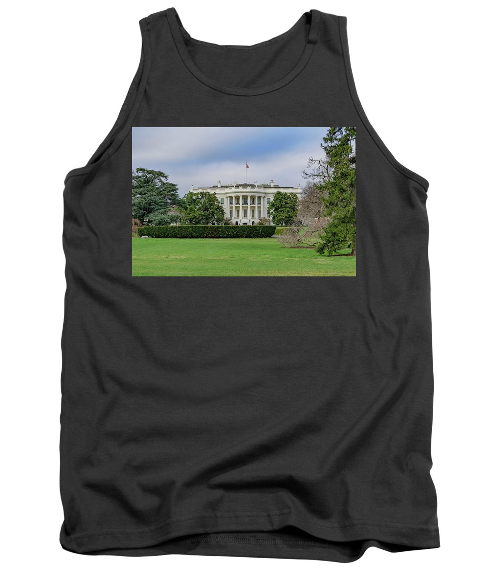 America Tank Top featuring the photograph White House by Cityscape Photography