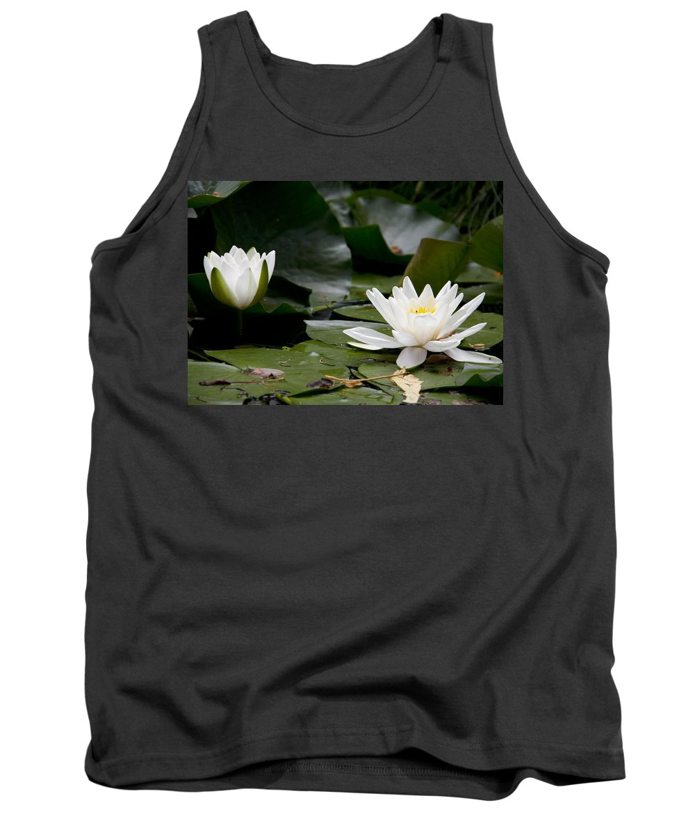 Waterlily Tank Top featuring the photograph White Ladies by Fabrizio Svetina
