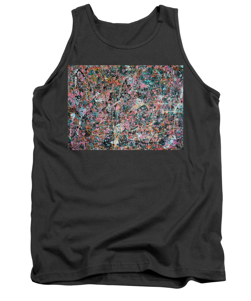 Abstract Tank Top featuring the painting White Little Rabbit by Ericka Herazo