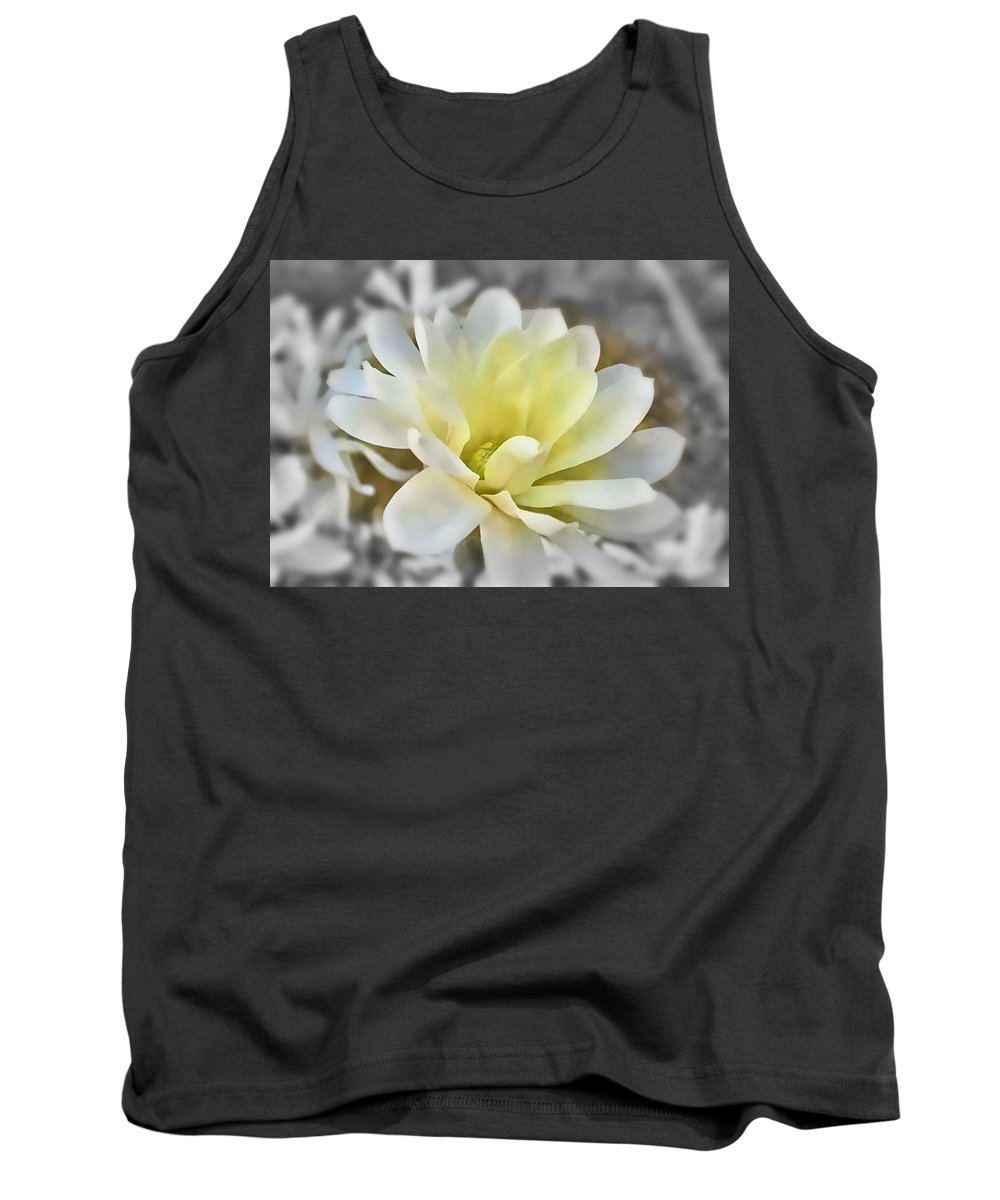 Magnolia Tank Top featuring the photograph White Magnolia by Mary Pille